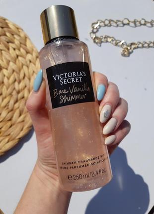 Парфюмированный спрей для тела с шиммером bare vanilla victoria's secret