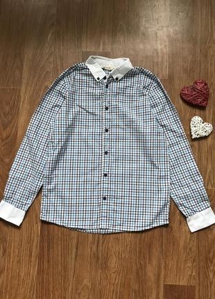Крутая рубашка в клетку h&m 10-11 лет