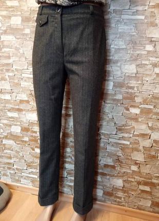 Германия, шикарные, теплые, шерстяные брюки, брючки, штаны, прямые брюки
