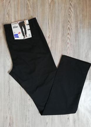 Качественные мужские чёрные штаны брюки чиносы livergy