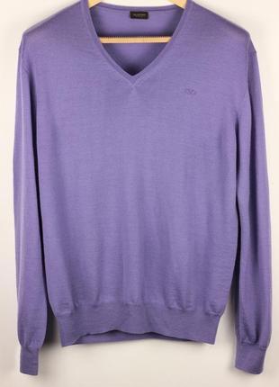 Шерстяной пуловер свитер люкс класса меринос