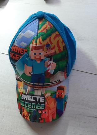 Летняя кепка для мальчика майн крафт
