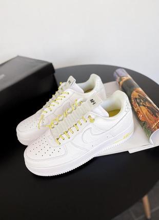 Кроссовки кеди nike air force 1 lux 'white/chrome yellow' кросівки кеды