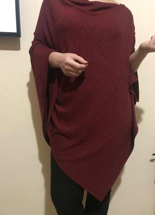 Очень комфортное мягенькое легкое пончо накидка шаль
