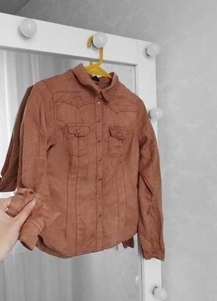 Велюровая рубашка от h&m
