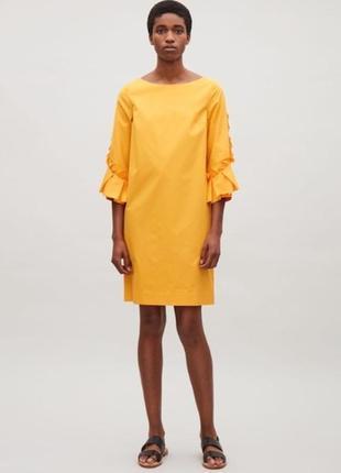 Cos платье мини, хлопковое, яркое, оригинальное