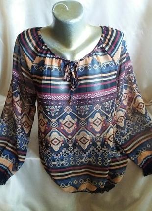 Вышиванка блузка шифоновая