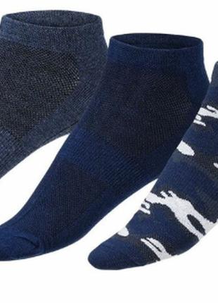 Набор коротких спортивных носков, 3 пары, германия ( размер 39-42 и 43-46)цена за набор!