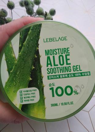 Универсальный увлажняющий гель с экстрактом алоэ lebelage moisture aloe 100% soothing gel