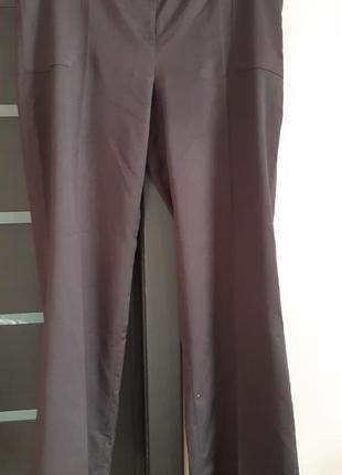 Брюки темно-коричневые турция большой размер ткань костюмная с отливом 54-56р