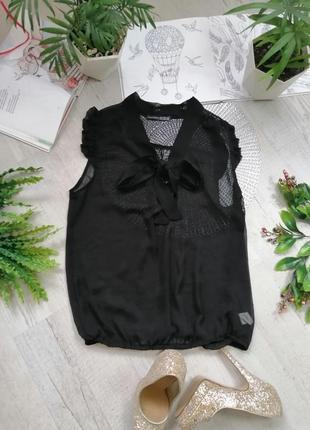 Блузка блуза кофточка актуальная в офис черная легкая