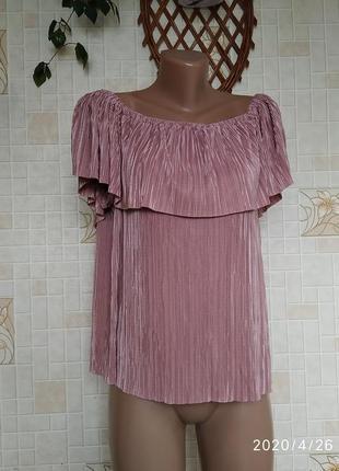 Блуза с воланом 153
