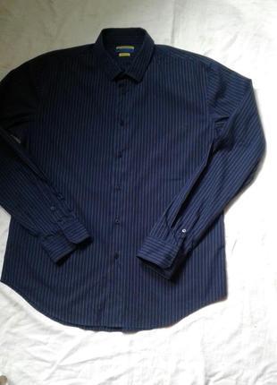 Темно синяя рубашка  40-41 см
