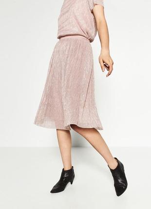 Шикарная плисированная юбка зара zara, новая с биркой!