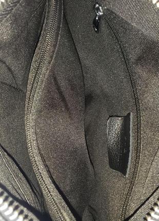 Женская кожаная сумка клатч через на плечо polina & eiterou жіноча шкіряна чорна10 фото