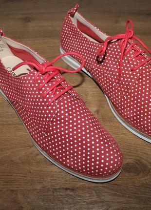 Кожаные полуботинки, туфли caprice, 39 размер