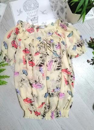 Блузка блуза кофточка с машинами машинками  актуальная