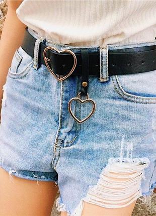 Модний ремінь сердечко, пояс, ремень сердце 🖤тренд.