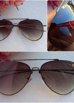 Новые мужские очки авиаторы (с царапиной на стекле) уценены