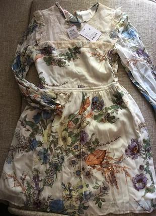 Blugirl платье романтик из натурального шифона/s
