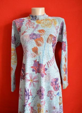 Трикотажное демисезонное платье-трапеция от new look