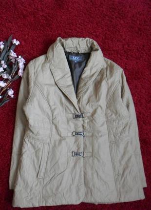 Бежевая демисезонная куртка liv -48р