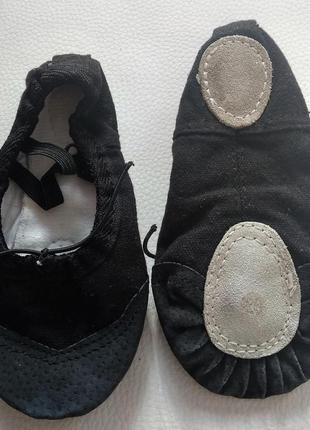 Черные танцевальные балетки р. 265 фото