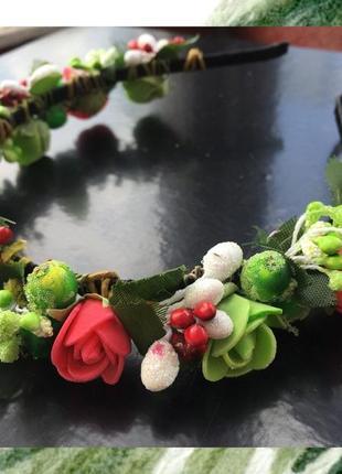 Обруч венок с цветами