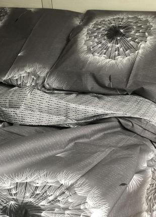"""3d комплект постельного белья """"одуванчики"""", есть все размеры, 100% хлопок"""
