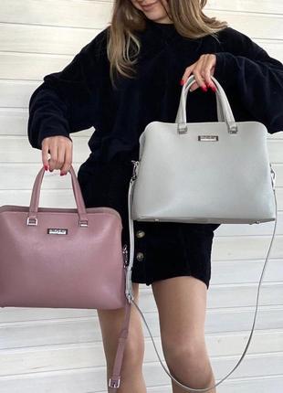 Женская кожаная сумка через на плечо polina & eiterou жіноча шкіряна