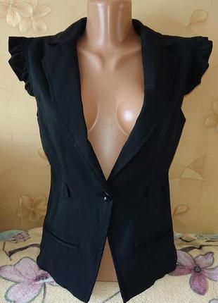 Базовая черная женская жилетка, жилет р. s