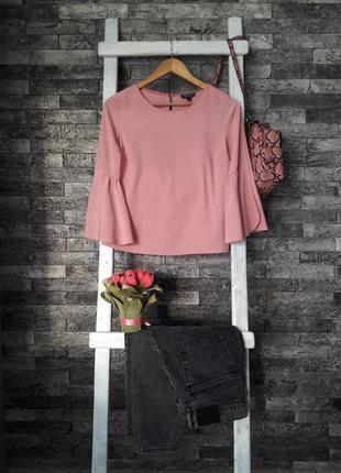 Topshop блуза женская цвета пудры