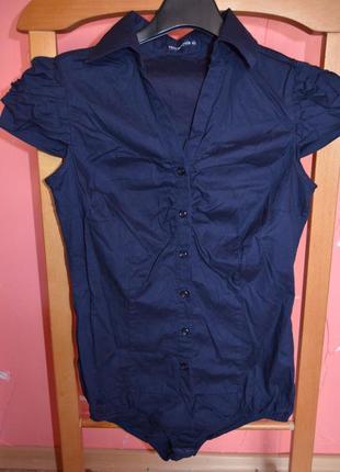 Хлопковая стильная рубашка-боди terranova р.xs