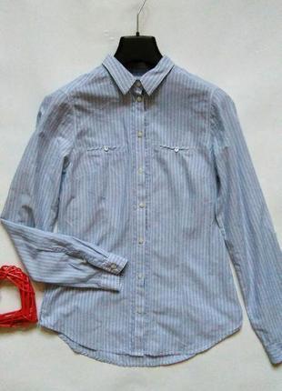 Рубашка в полоску тонкий хлопок