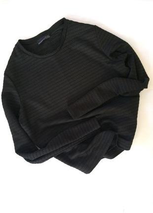 Крутая актуальная черная кофта свитшот zara оверсайз