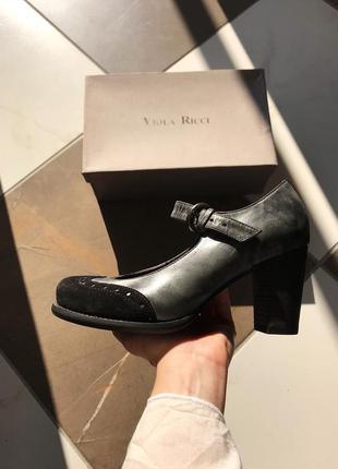 Кожаные туфли броги, натуральная кожа, италия