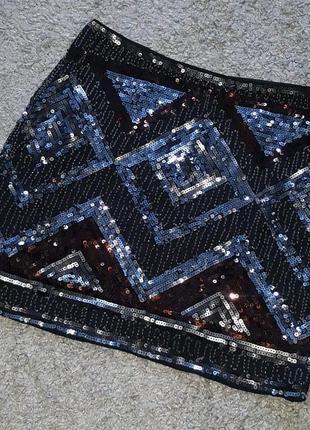 Оригинал.шикарная,вечерняя,сверкающая,нарядная юбка h&m