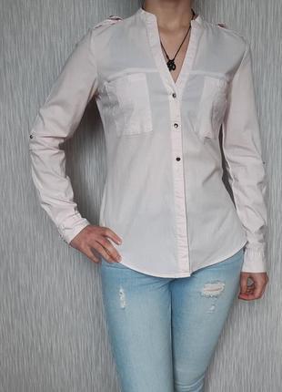 Приталеная розовая блуза