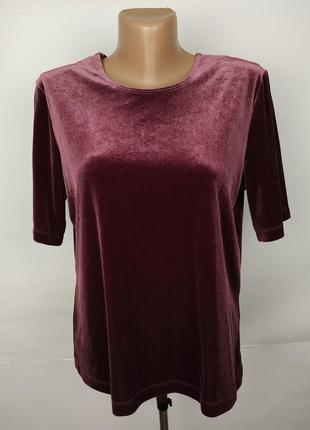 Блуза красивая велюровая эластичная marks&spencer uk 16/44/xl