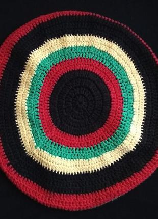 Вязаный раста берет, растаманская шапка