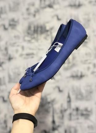 Балетки чешки синие 37 р. c&a