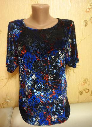 Нарядная классическая блуза с принтом