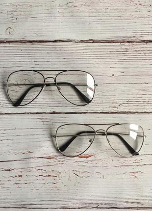 Прозрачные имиджевые/стилевые очки в стиле ray ban