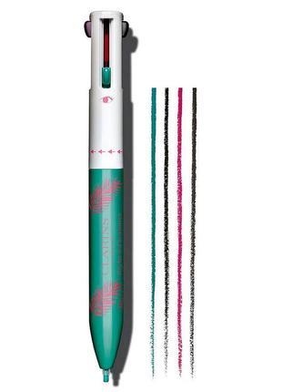 Четырехцветная ручка-подводка для глаз и губ stylo 4 couleurs eyeliner pen