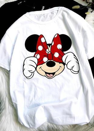 Крутая футболка с минни♥️