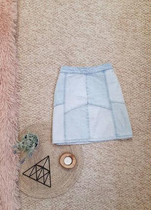 Джинсова спідниця/джинсовая юбка/мини/джинс