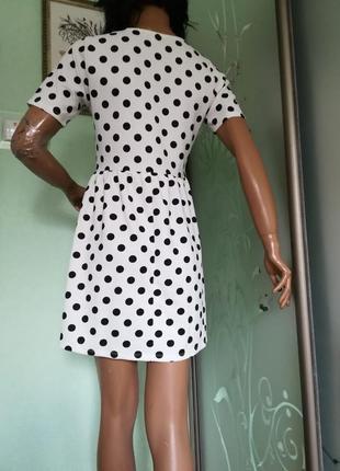 Летнее платье в горошек2 фото