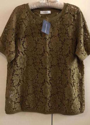 Кружевная блузка футболка promod, p.14-16