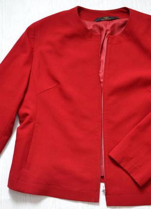 Деловой стильный пиджак на молнии большой размер