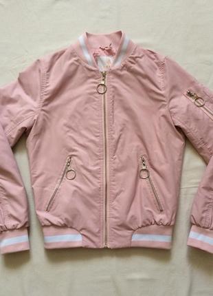Бомбер розовый